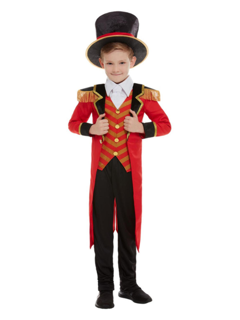 Deluxe Ringmaster Boys Fancy Dress Great Showman Circus Lion Tamer Kids Costume