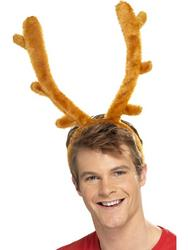Brown Reindeer Horns