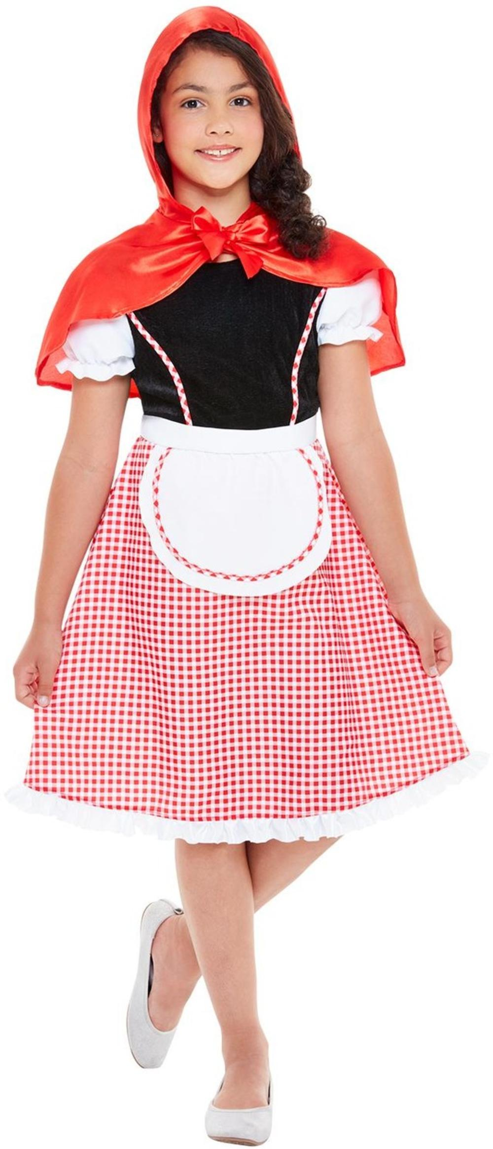 Red Riding Hood Girls Fancy Dress Fairy Tale Kids World Book Day Costume Outfit