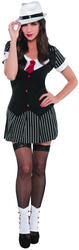 20s Gangster Ladies Fancy Dress 1920s Mafia Girl Adults Pinstripe Costume Outfit