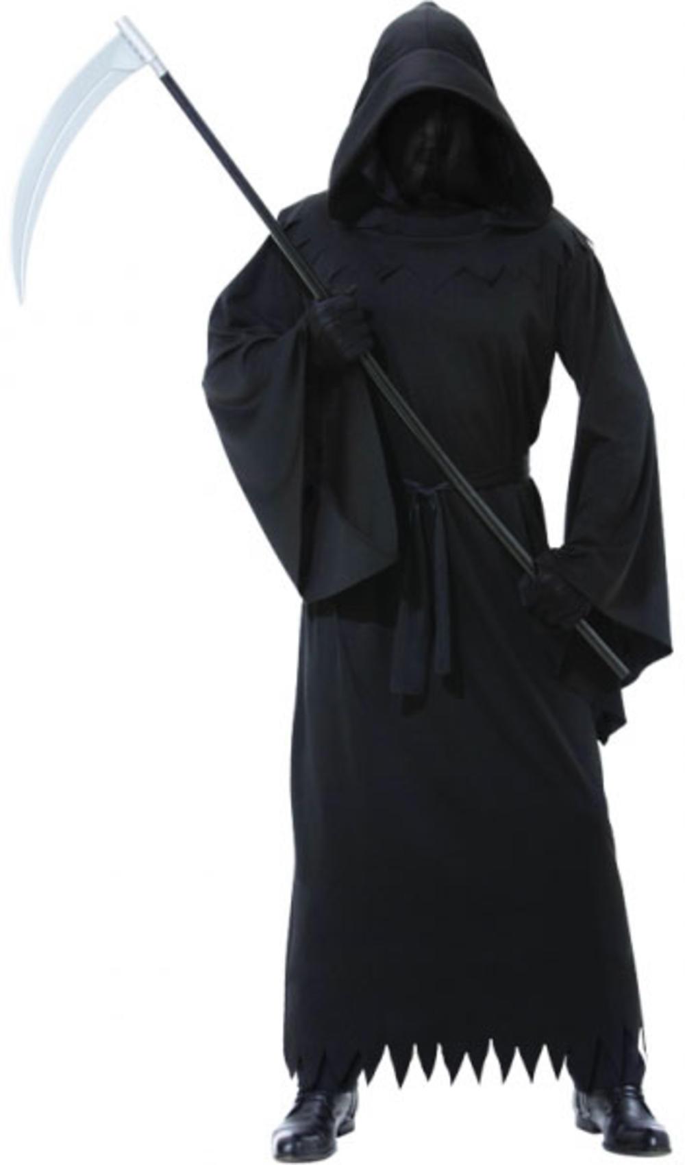 Phantom of Darkness Halloween Grim Reaper Robe Mens Fancy Dress Adult Costume