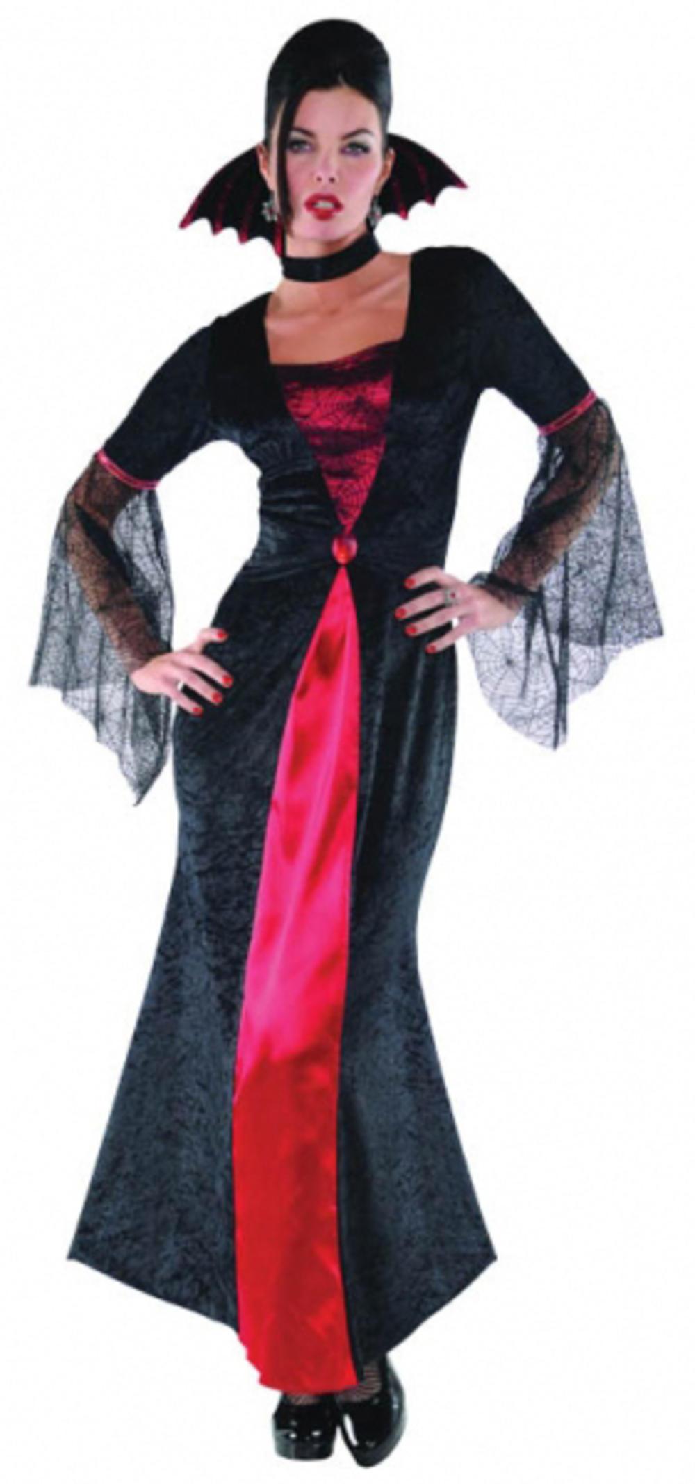 Countess Vampiretta Halloween Fancy Dress Ladies Vampire Womens Costume Outfit