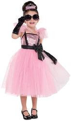 Glam Princess Girls Fancy Dress 1960s Audrey Hepburn Kids Childs Costume Outfit