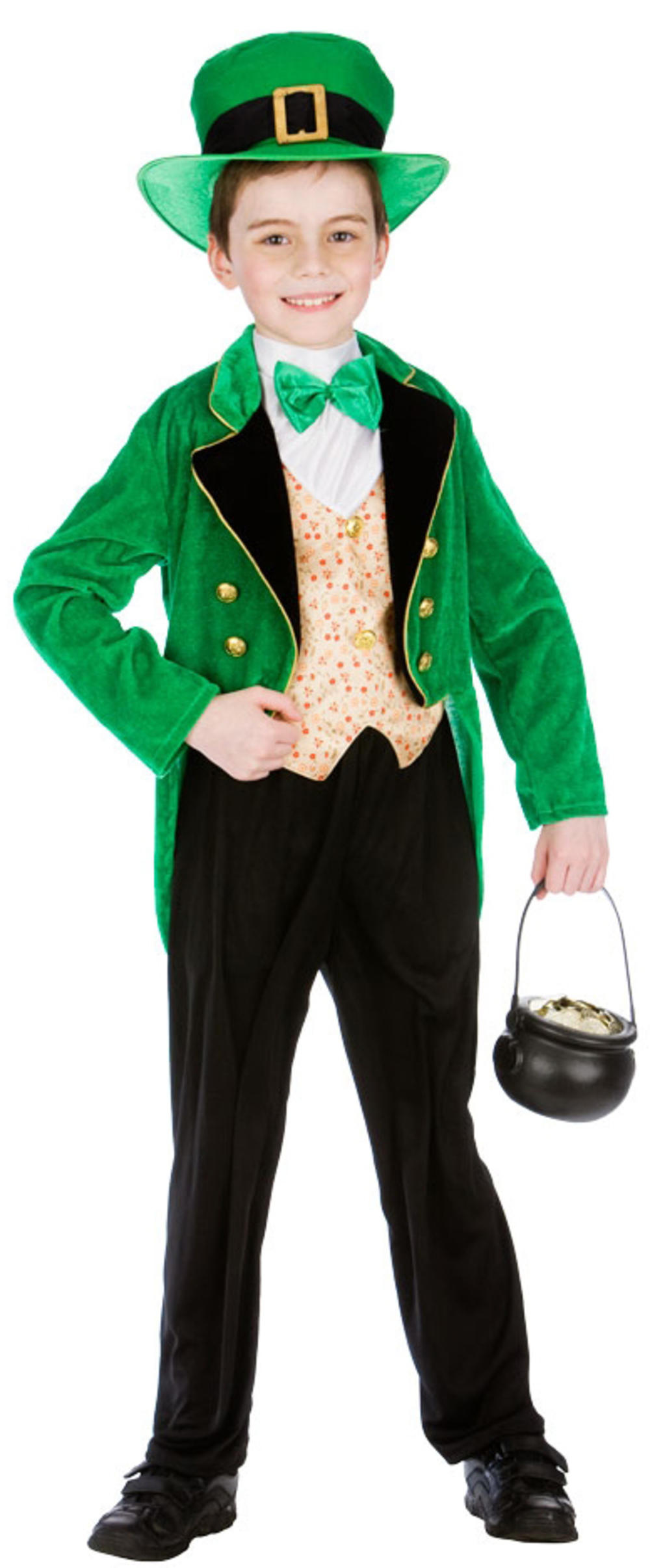 Irish Leprechaun + Hat Boys Fancy Dress St Patricks Kids Childs Costume Outfit