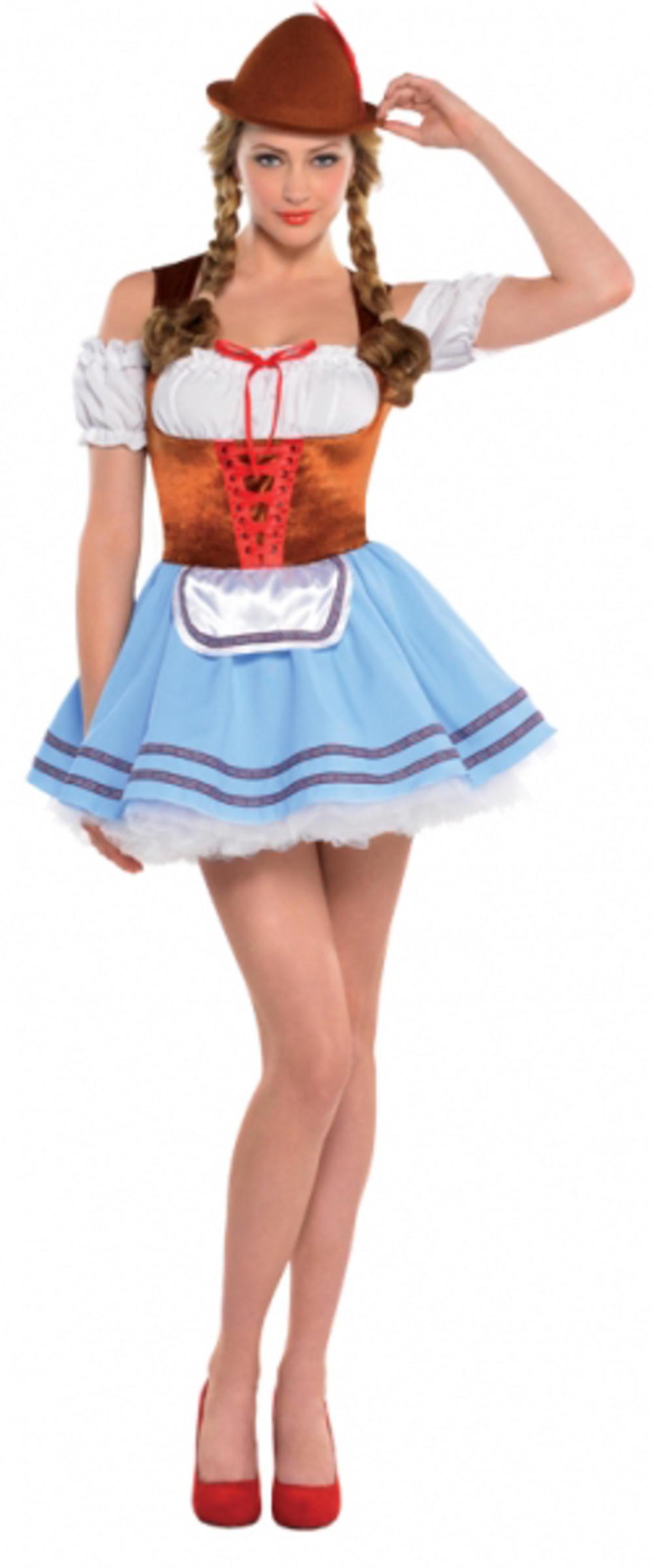 Oktoberfest Durandal Ladies Costume German Bavarian Beer Maid Adults Costume
