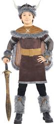 Viking Warrior + Helmet Boys Fancy Dress Medieval Book Week Kids Childs Costume