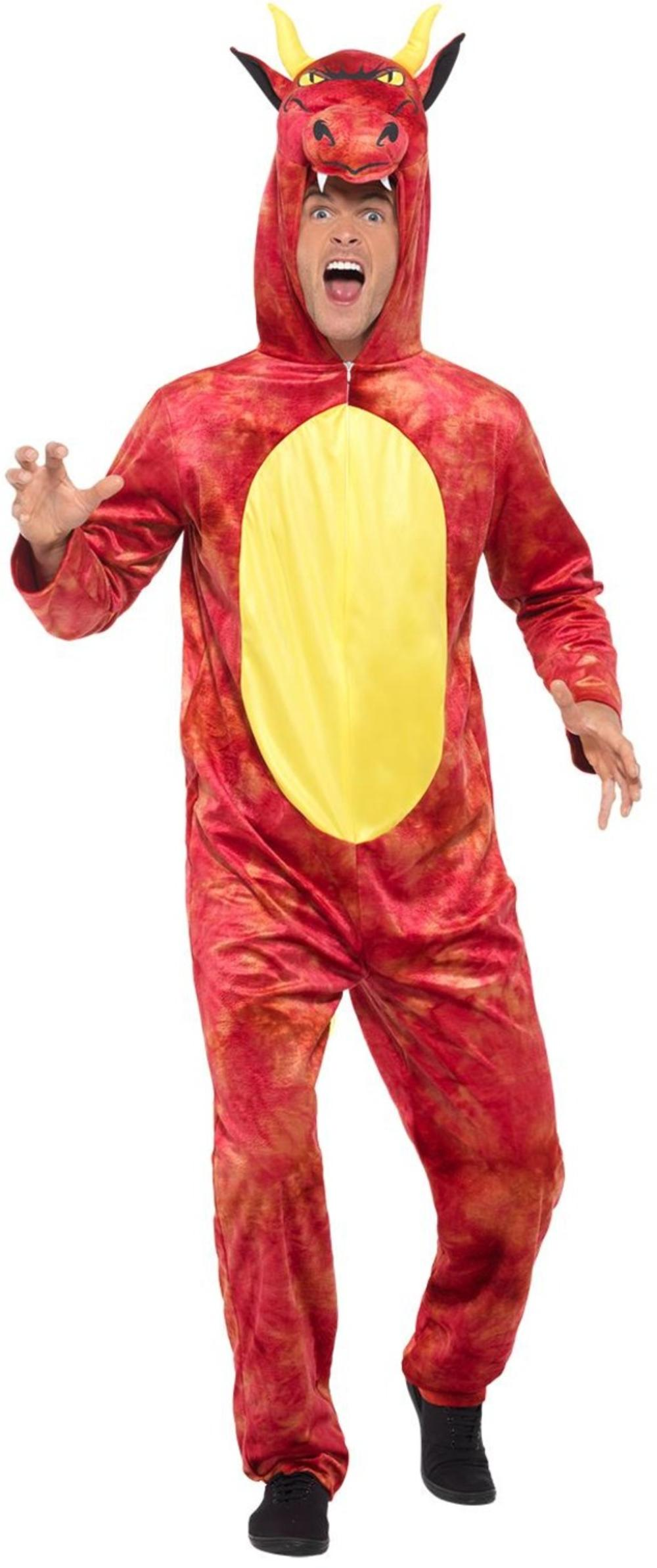 Deluxe Dragon Adults Fancy Dress Animal Myth Mens Ladies Book Day Costume Outfit