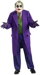 Deluxe The Joker Costume Batman Villian Men's Halloween Fancy Dress Costume New