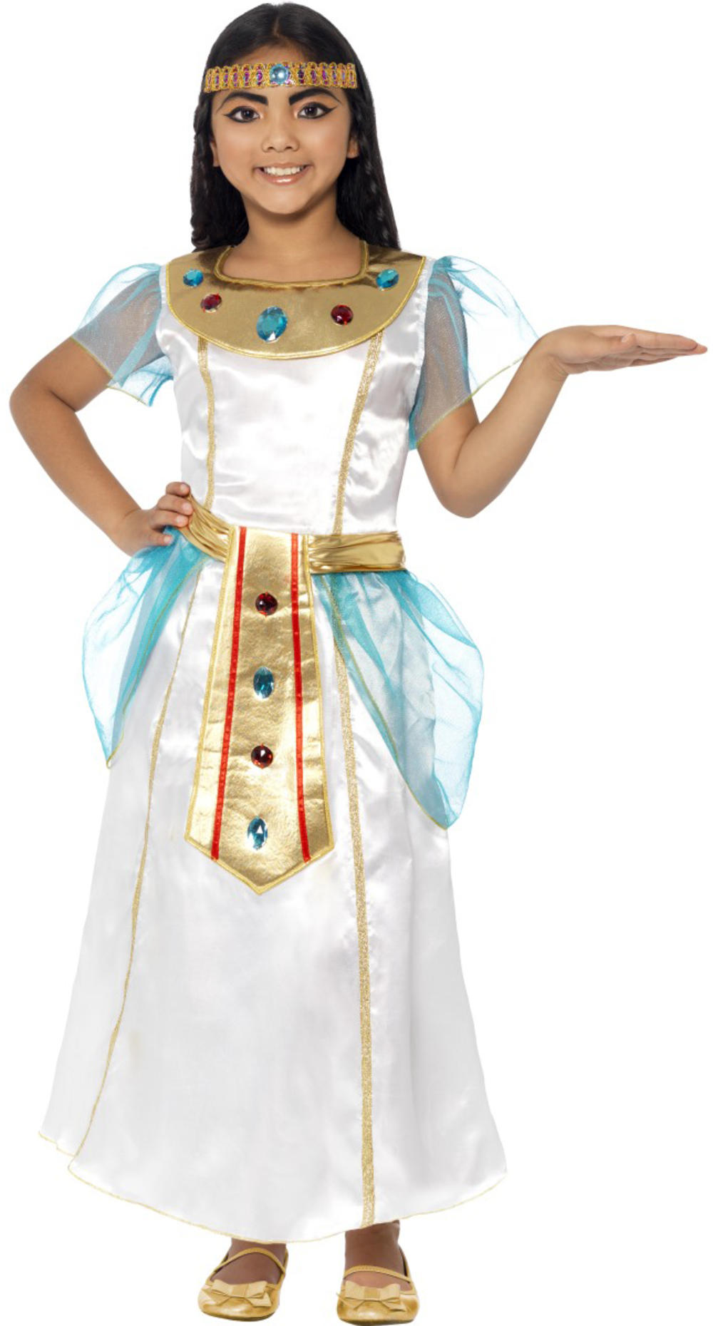 Queen Cleopatra Girls Fancy Dress Ancient Egyptian Historic Girls Childs Costume