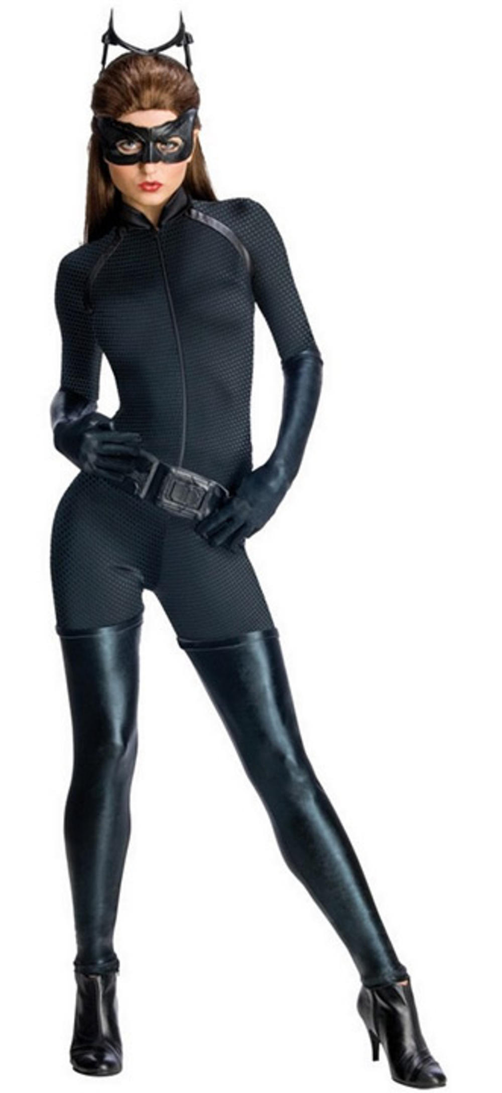Deluxe Catwoman Ladies Fancy Dress Dark Knight Batman Superhero Womens Costume