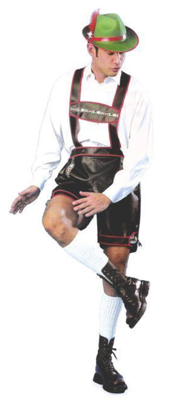 Bavarian Lederhosen Mens Fancy Dress Oktoberfest Beer Man Adults Costume Outfit