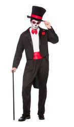 Day of the Dead Senor Mens Fancy Dress Halloween Skeleton Undead Adults Costume