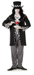 Dark Mad Hatter Mens Halloween Fancy Dress Adults Character Costume Outfit New