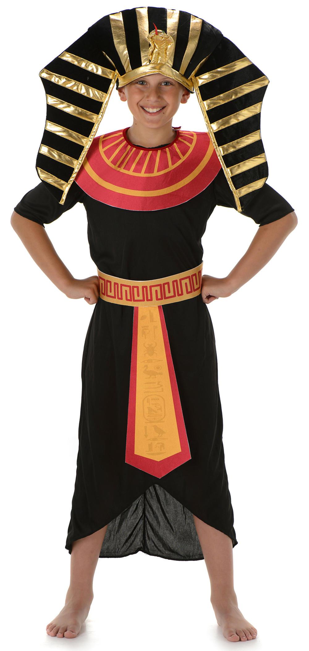 Egyptian Pharaoh Boys Fancy Dress Ancient Egypt King Kids Historical Costume New