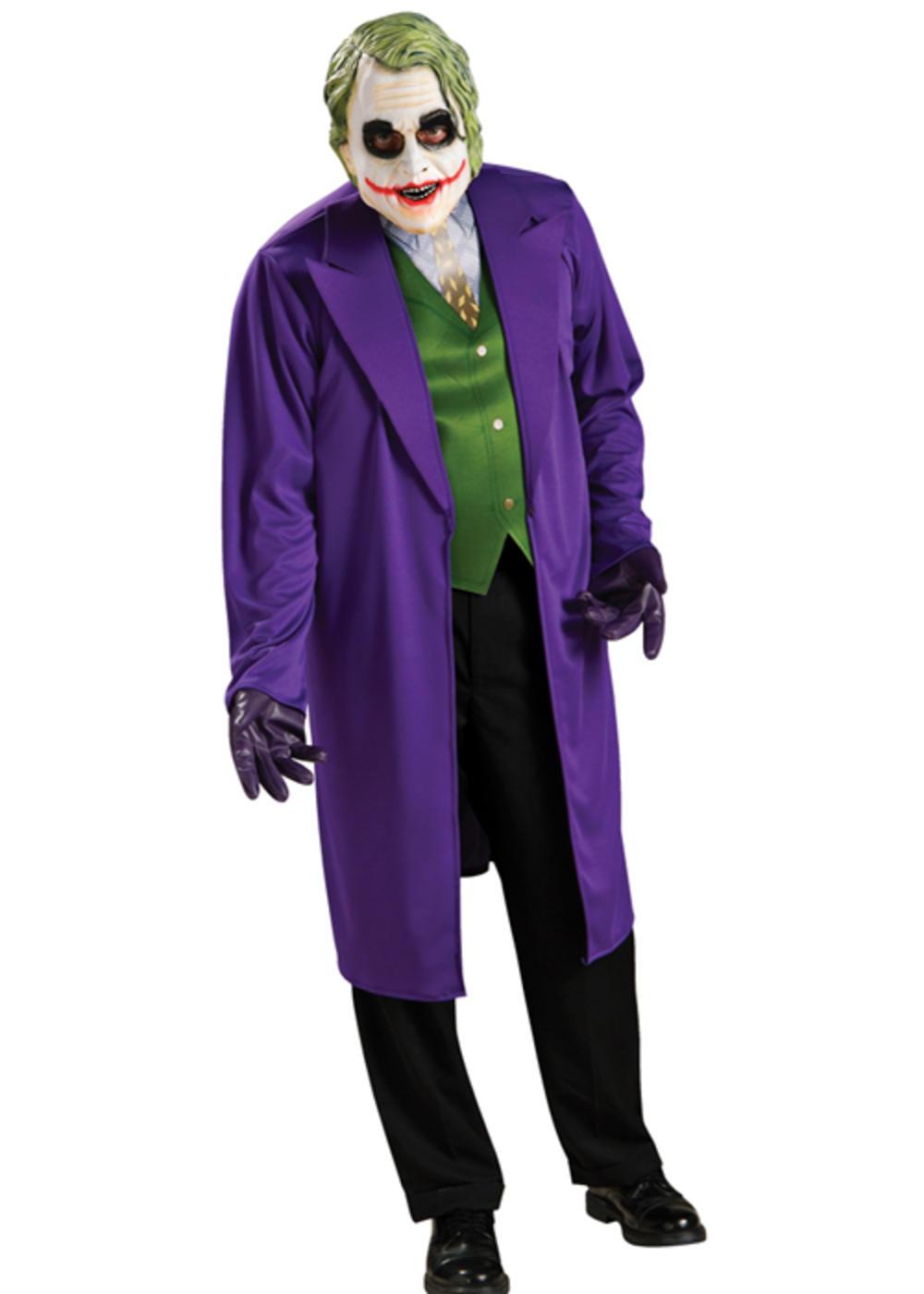 The Joker Mens Fancy Dress Batman Dark Knight Villain Adults Halloween Costume