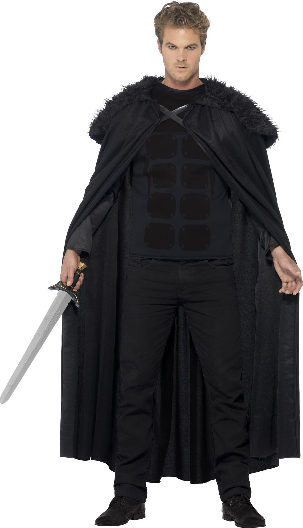 Dark Barbarian Jon Snow Game Of Thrones Mens Fancy Dress Adults Medievel Costume