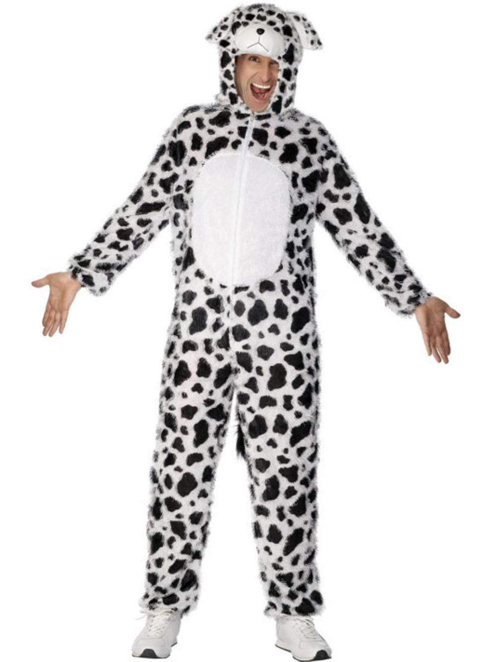 Dalmatian Dog Costume Adult Mens Ladies Fancy Dress Book Dalmation Costume NEW
