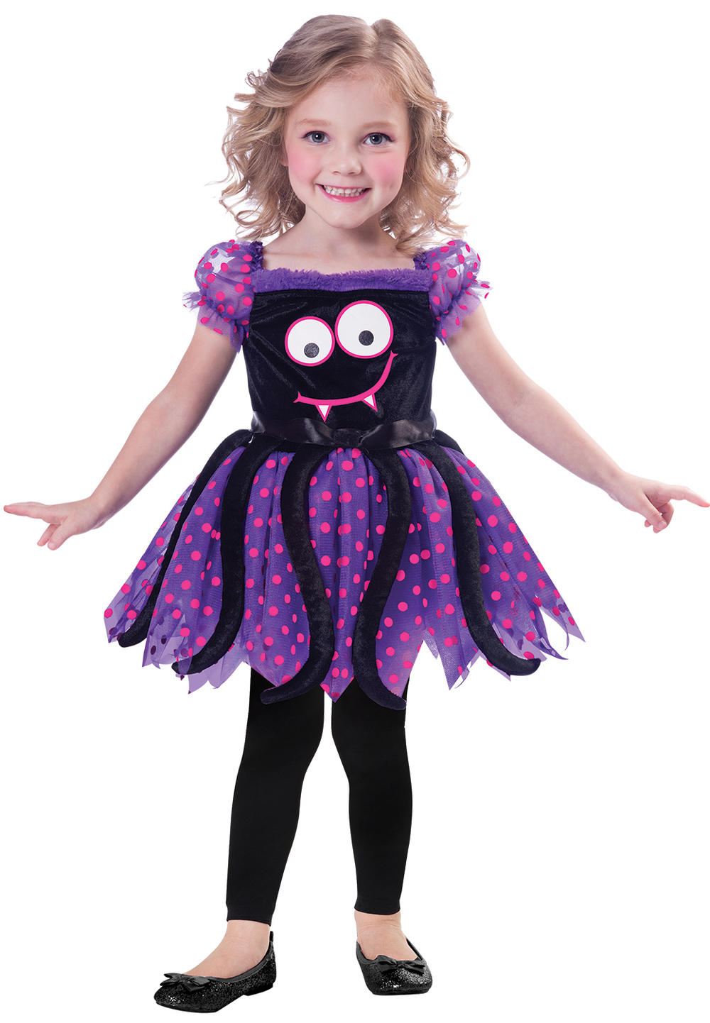 Cute Spide Girls Halloween Fancy Dress Insect Bug Toddler Childrens Kids Costume