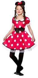 Mouse Girl Fancy Dress Kids Childs Minnie Animal Childrens Costume Ages 3-10