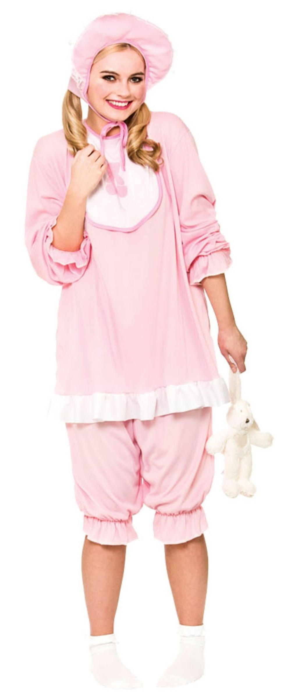 Pink Cry Baby Adults Fancy Dress Fun Novelty Babies Suit Costume Unisex Outfit