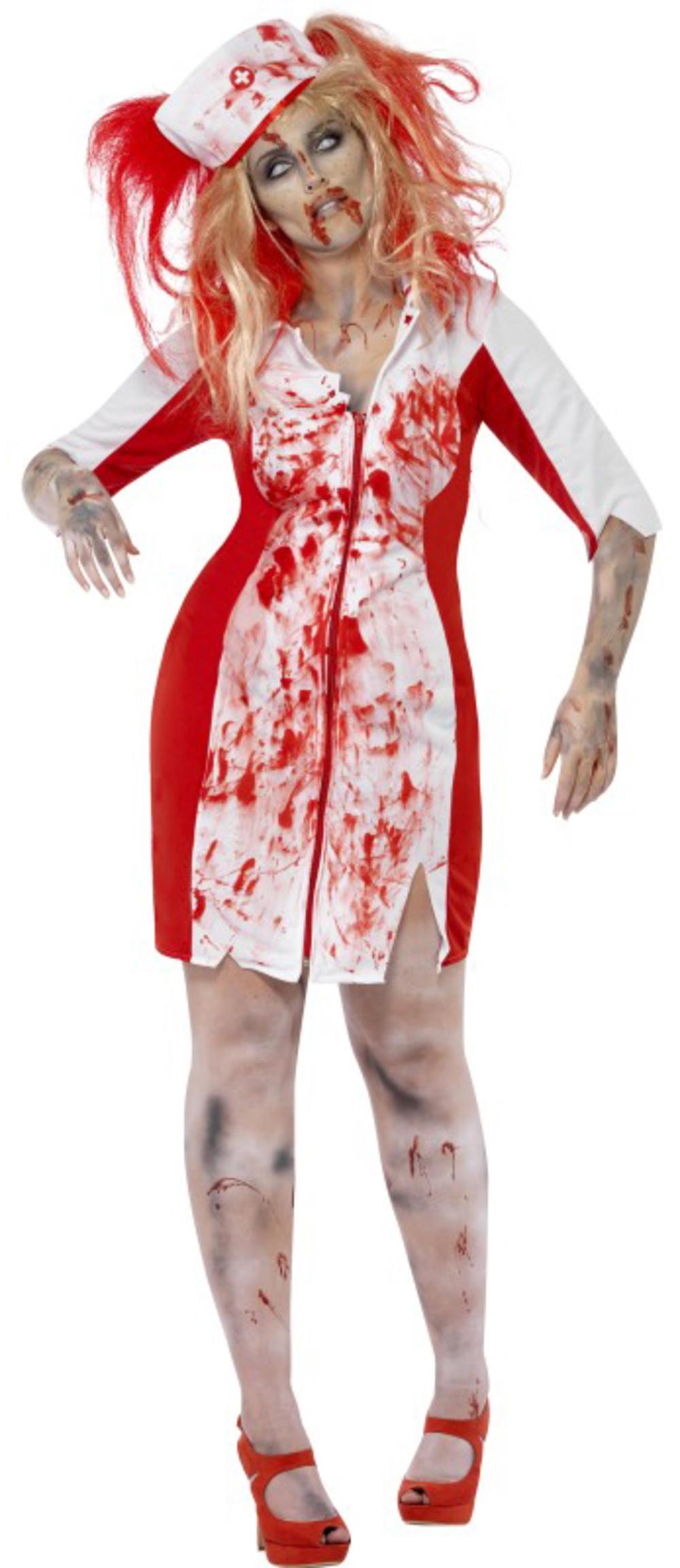 Zombie Nurse Ladies Halloween Plus Size Fancy Dress Womens Horror Adult Costume