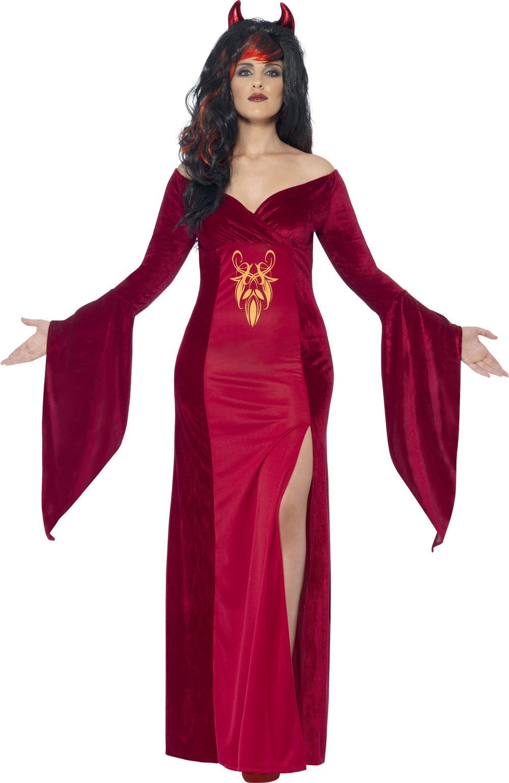 Devil Temptress Halloween Ladies Fancy Dress Womens Adults Plus Size Costume New