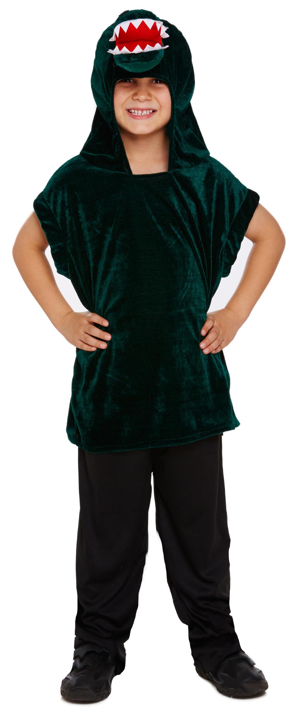 Crocodile Boys Fancy Dress Dinosaur Alligator Animal Kids Childrens Costume Top
