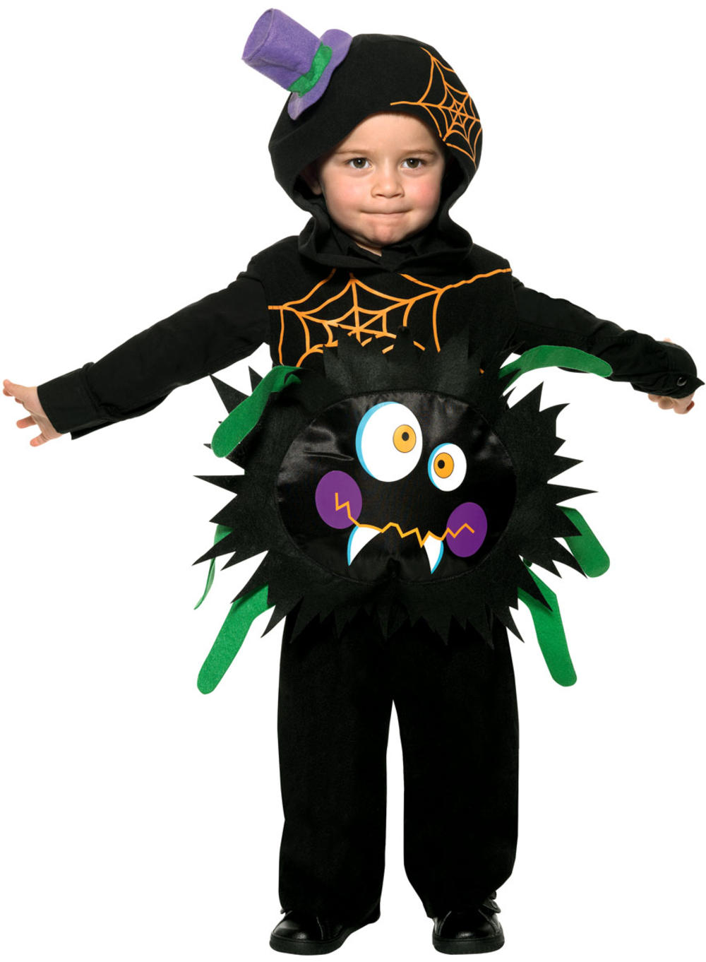 Crazy Spider Toddler Ages 1-4 Kids Halloween Fancy Dress Childrens Child Costume