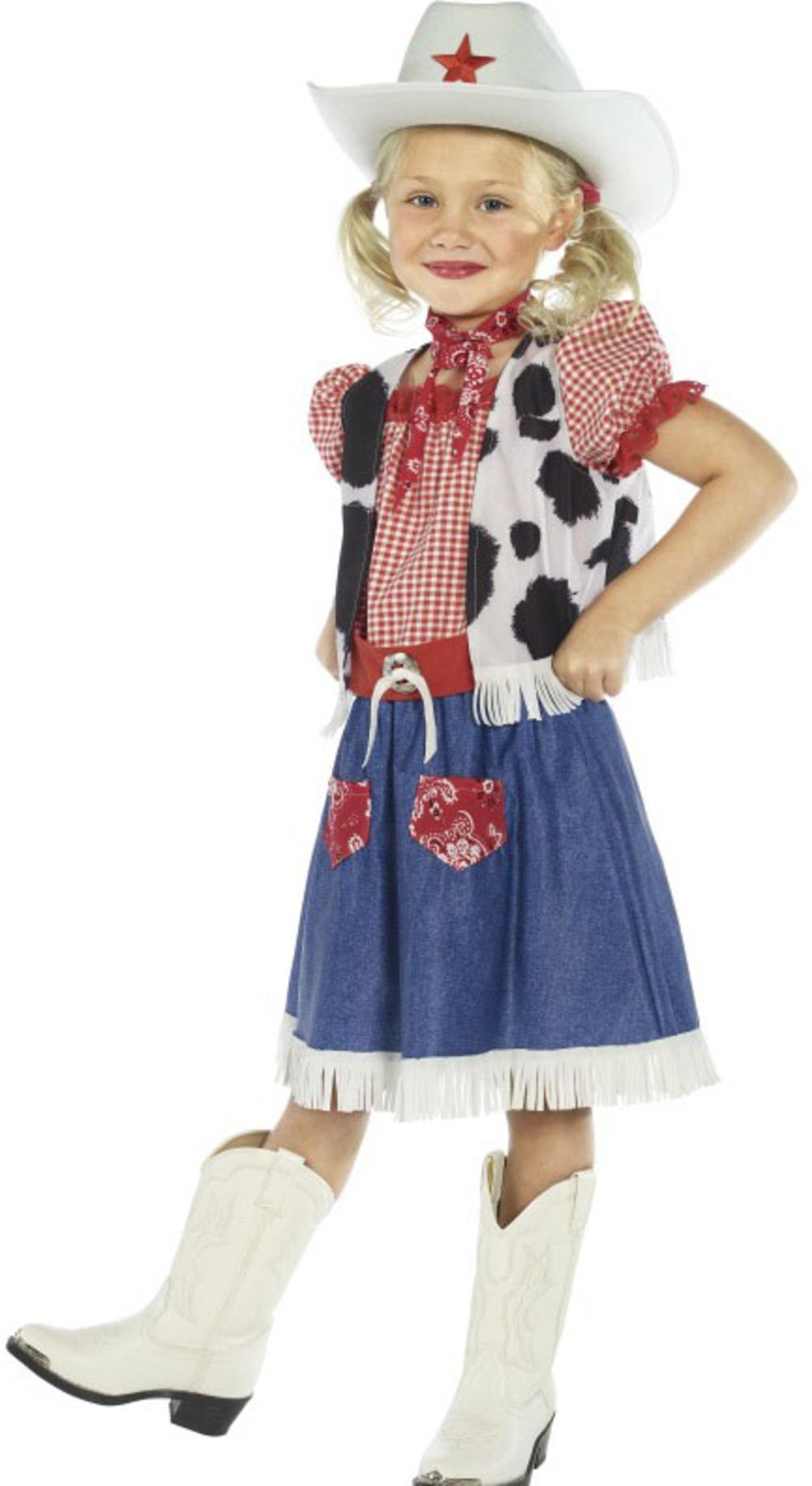 Cowgirl Sweetie Girls Fancy Dress Ranch Rodeo Wild Western Kids Childs Costume