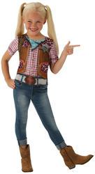Cowgirl T-Shirt Girls Fancy Dress Wild Western Rodeo Kids Childrens Costume Top