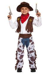 Cowboy Boys Fancy Dress Wild Western Rodeo Kids Childrens World Book Day Costume