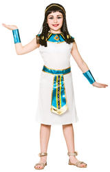 Cleopatra Girls Fancy Dress Ancient Egyptian Queen Kids Book Day Costume Outift