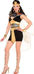 Egyptian Cleopatra Ladies Fancy Dress Halloween Egypt Book Week Womens Costume