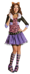 Clawdeen Wolf Ladies Monster High Fancy Dress Halloween Costume Outfit UK 6-14