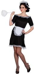 Sexy French Maid Ladies Fancy Dress Hen Party Uniform Adults Womens Costume New