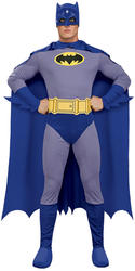 Classic Batman Mens Fancy Dress Brave & The Bold Comic Superhero Adults Costume