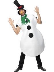 Christmas Snowman Mens Costume