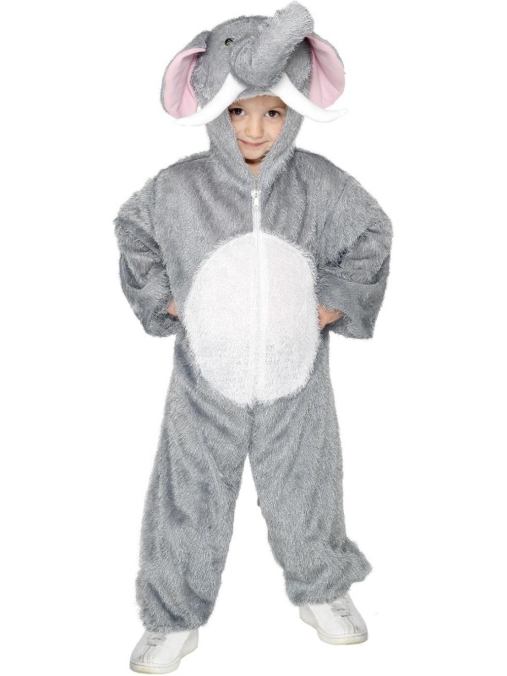 Jungle Elephant Kids Fancy Dress Animal Book Week Boys Girls Childrens Costume