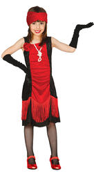 Charleston Flapper Girls Fancy Dress 1920s Gatsby Kids Book Day Costume Outfit