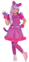 Cheshire Cat Girls Fancy Dress Animal Book Day Week Childrens Kid Costume Outfit