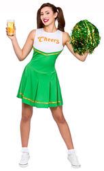 Cheers Cheerleader Ladies Fancy Dress St Patricks Day Green Womens Adult Costume