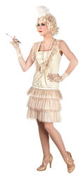 20s Flapper Girl Ladies Fancy Dress 1920s Charleston Gatsby Adult Costume Outfit