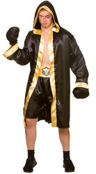 Champion Boxer Mens Fancy Dress Wrestler Boxing Sport Olympic Adults Costume New
