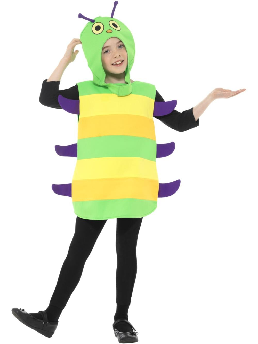 Kids Caterpillar Fancy Dress Hungry Animal  Book Week Boys Girls Childs Costume