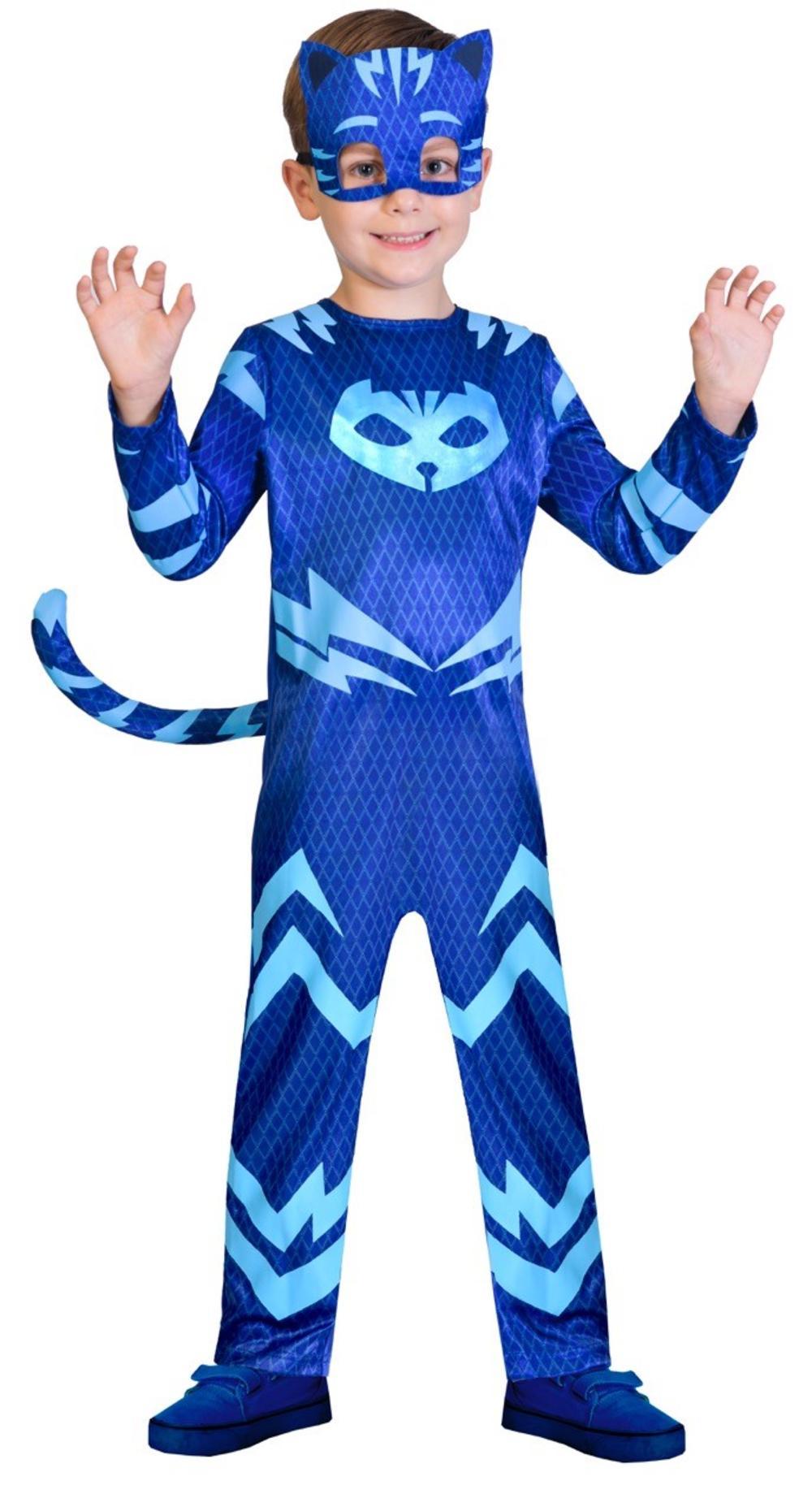 Gekko Boys Fancy Dress PJ Masks Superhero Gecko Cartoon Kids Childrens Costume