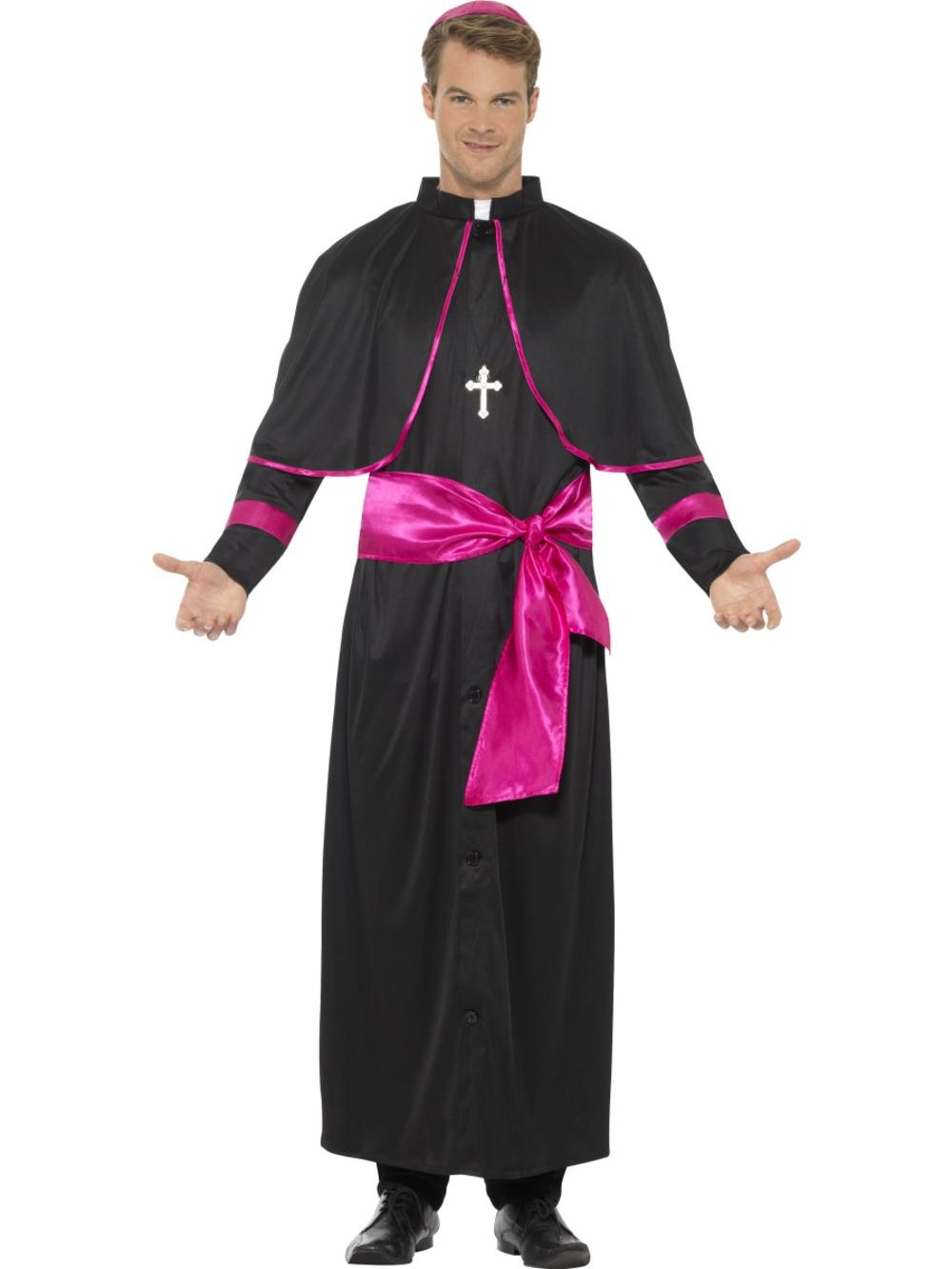 Cardinal Men's Fancy Dress Religious Catholic Holy Pope Saints Adult's Costume
