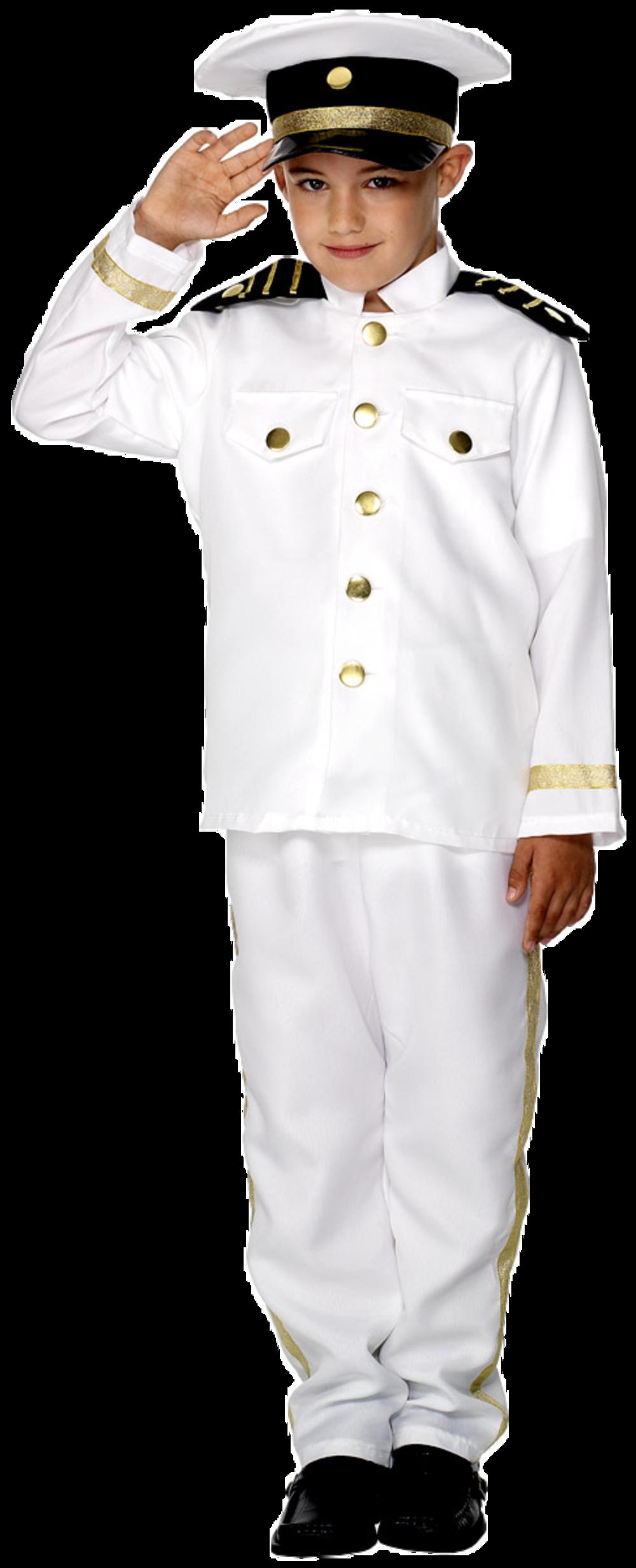 Captain Boy Fancy Dress Kids Naval Officer Sailor Uniform Costume Childrens 7-12