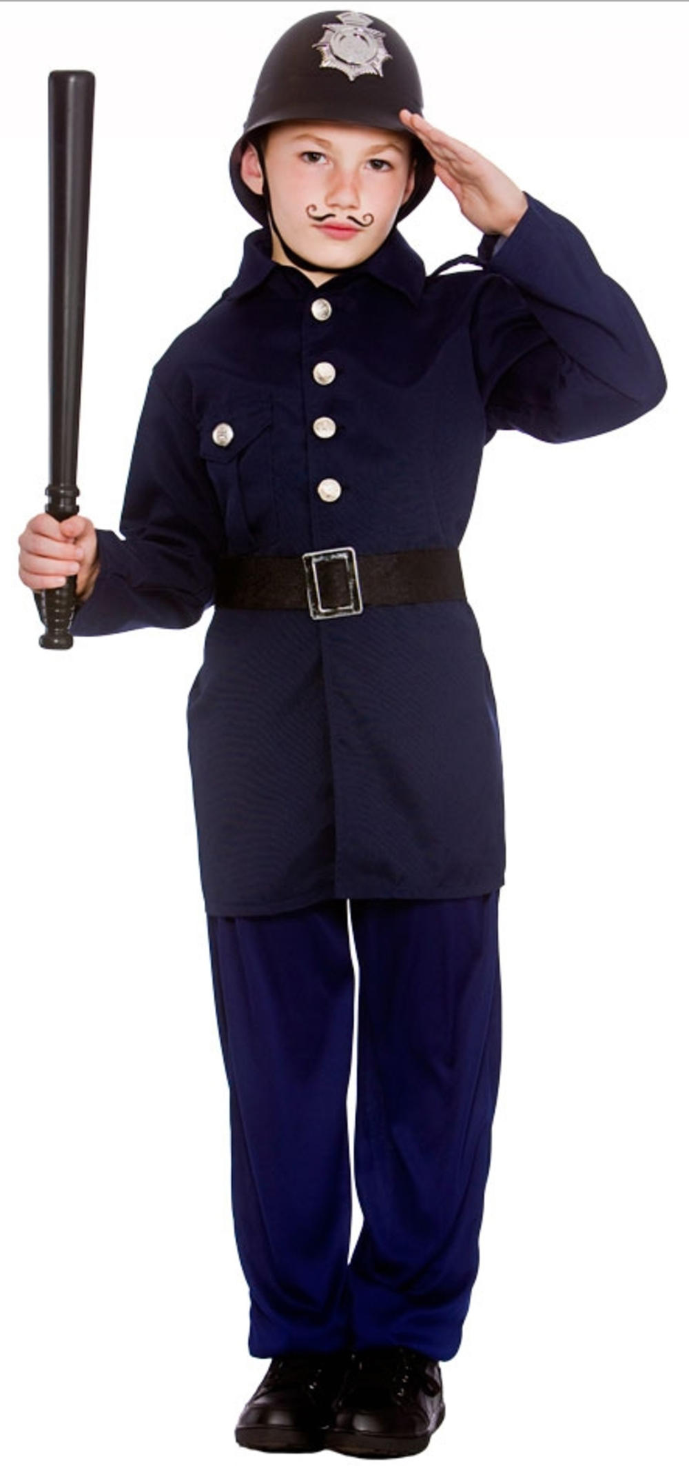 Victorian Policeman Boys Book Week Fancy Dress Uniform Childs Kid Costume Outfit