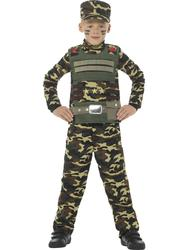 Military Boys Fancy Dress Army Camouflage Uniform Soldier Childrens Kids Costume