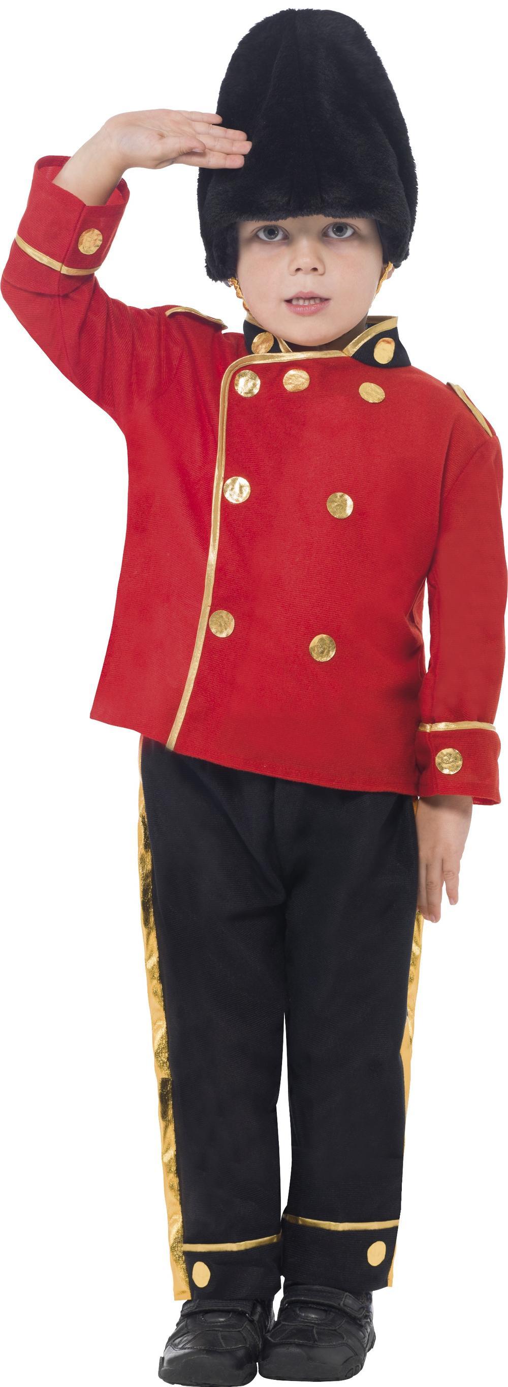 Royal Busby Guard Soldier Boys Fancy Dress British Uniform Kids Childs Costume